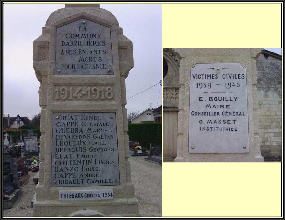 les noms sur le monument
